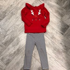 GUC Cat & Jack Girls Holiday Outfit 3T